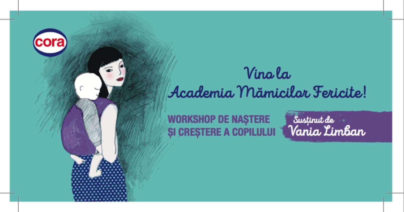 Academia mămicilor fericite, cu moașa Vania Limban, la Cora România