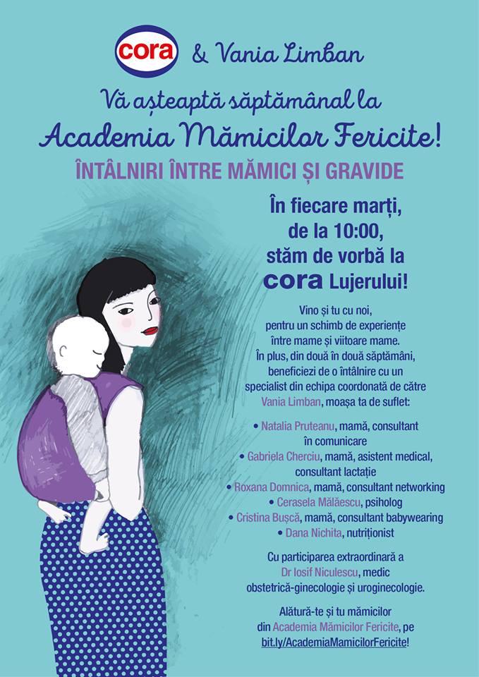 Cora și Vania Limban vă așteaptă în fiecare marți la Academia mămicilor fericite