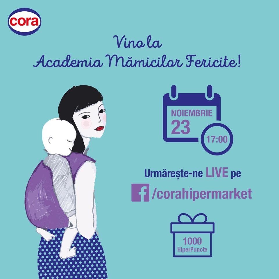 """""""Academia Mămicilor Fericite"""", live pe Facebook"""