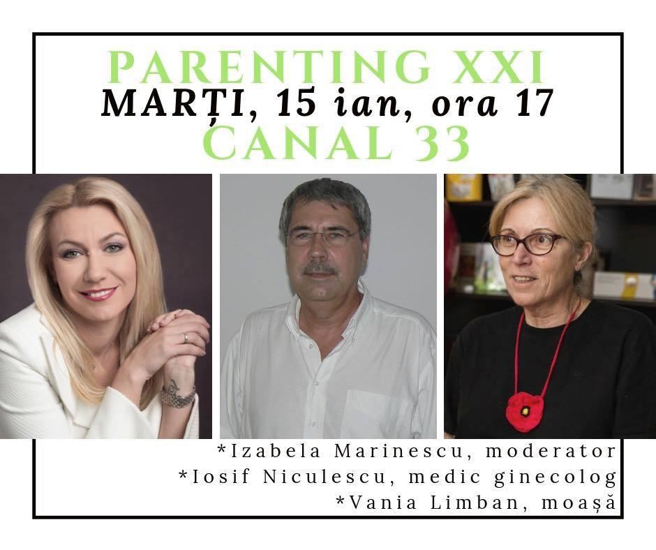 """""""Violența obstetricală"""", o emisiune cu dr. Iosif Niculescu și moașa Vania Limban la Canal 33"""