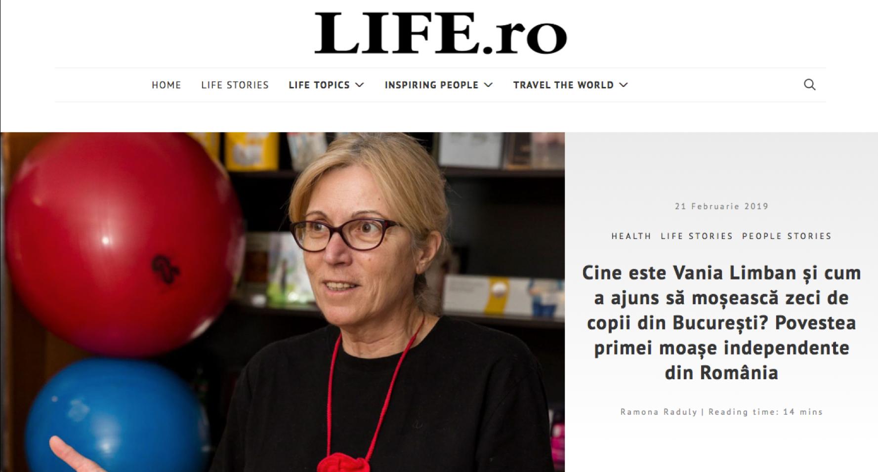 Life.ro: Cine este Vania Limban și cum a ajuns să moșească zeci de copii?