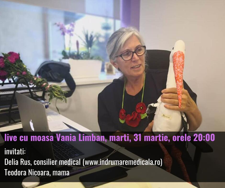 Live cu moașa Vania pe Facebook