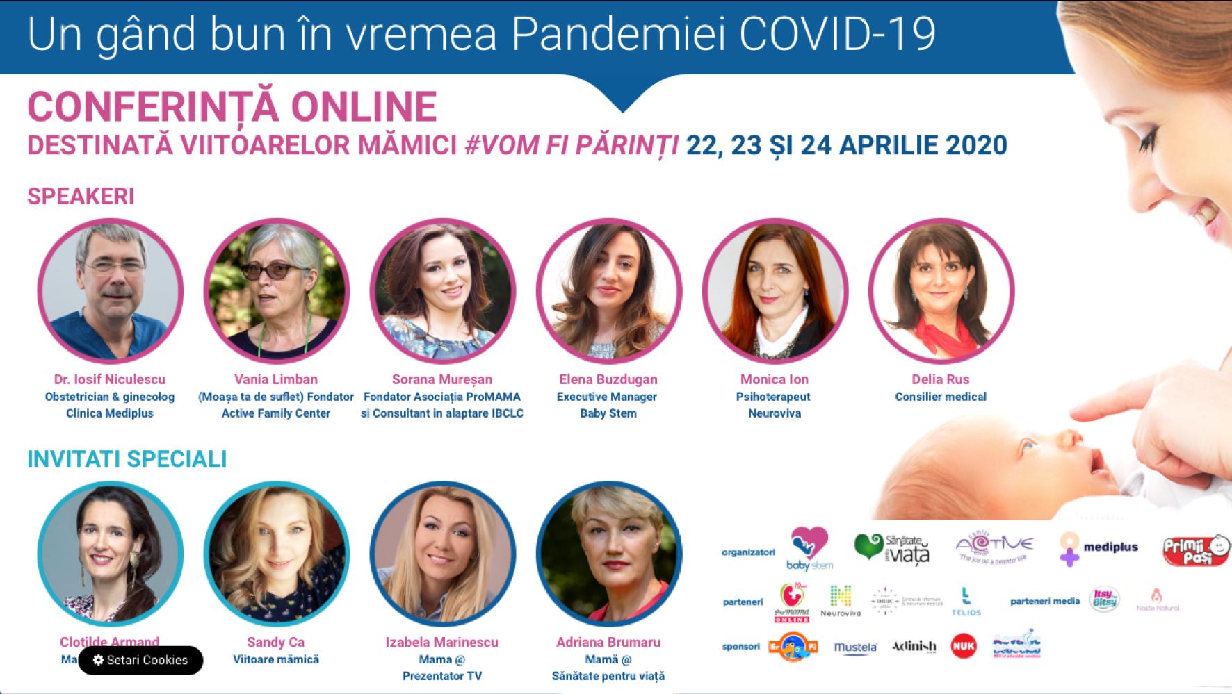 Un gând bun în vremea Pandemiei COVID-19 – conferință